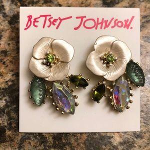 Betsy Johnson Flower Earrings, NWT